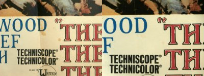 Detail on The Good, The Bad & The Ugly poster