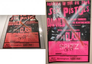 Sex Pistols Anarchy tour poster
