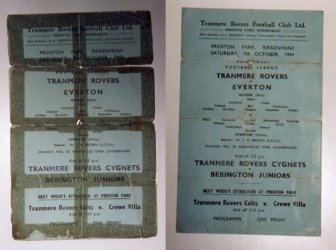 Tranmere Rovers Vs Everton 1944